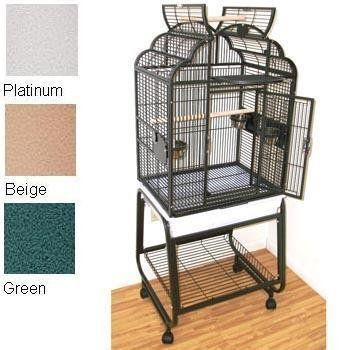"$154.34-$169.00 HQ's Opening Victorian Cage, Small Parrot Cage With Cart Stand, 1 Per Box, 22x17x55""H, Black. - HQ's Opening Top Victorian Parrot cage is a perfect home for small parrot. Great for smaller parrots like Conures and Quakers. 1/2"" bar spacing. Comes with 3 stainless steel feeders and Cart Stand. http://www.amazon.com/dp/B005HOKC66/?tag=pin2pet-20"