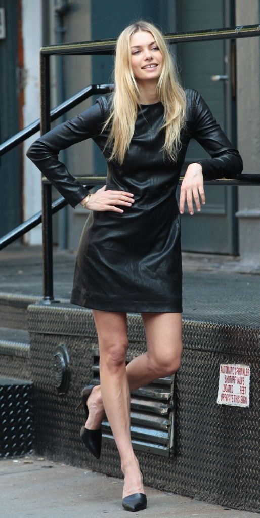 Leather dress. Want.