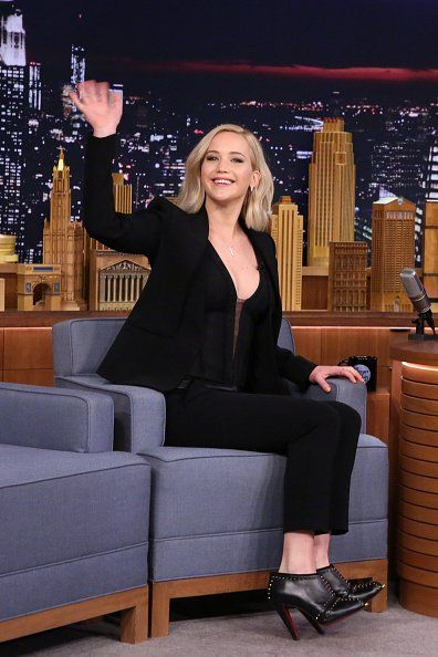 Jennifer Lawrence at the The Tonight Show