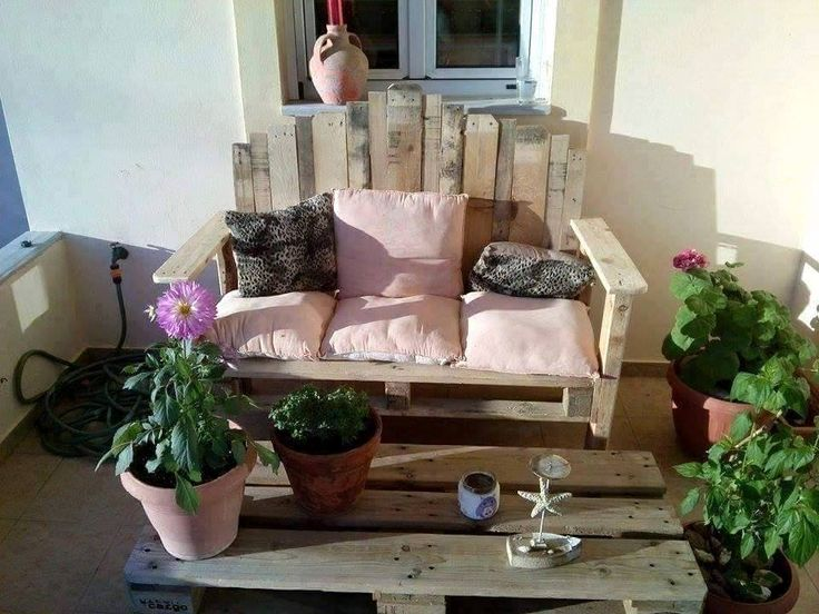 art style robust pallet bench and coffee table