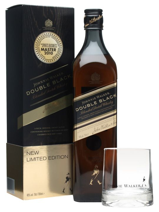 Johnnie Walker Double Black : Buy Online - The Whisky Exchange - An interesting twist on Johnnie Walker Black Label, originally released into the travel retail market in 2010. This adds to the normal Black Label profile by including more smokey whisky and casks ...