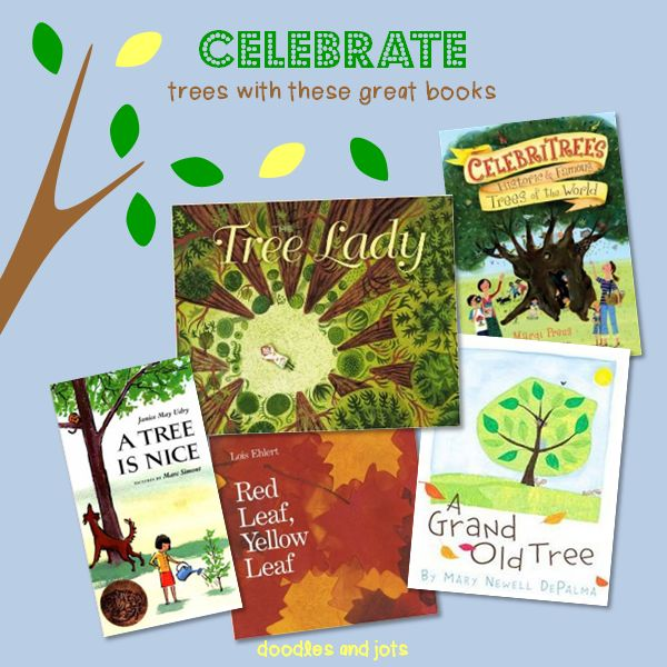 Book all about Trees! Trees! Glorious Trees! Recommended by Doodles and Jots in the Kid Lit Blog Hop