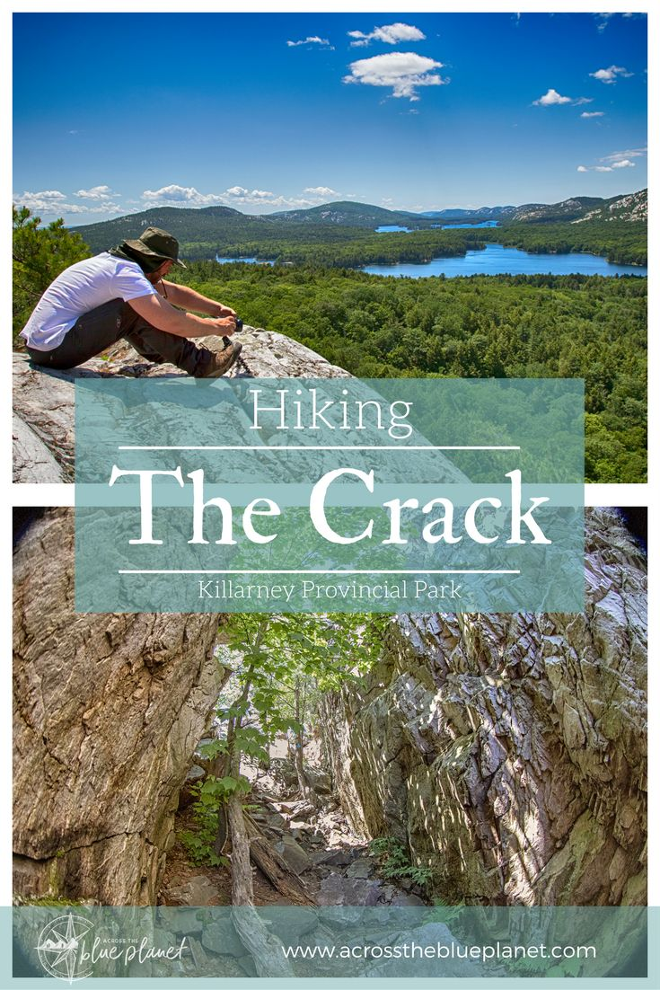 Hiking the Crack trail in Killarney Provincial Park, Ontario.  #travelontario #killarneyprovincialpark #ontarioparks #hikingtrails #thecrack #photography