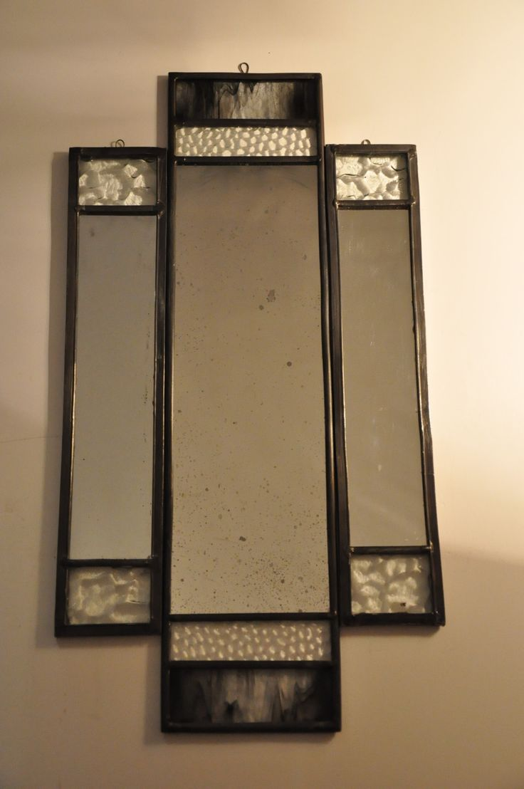 handmade stained glass mirrors. Lloyd wright inspiration