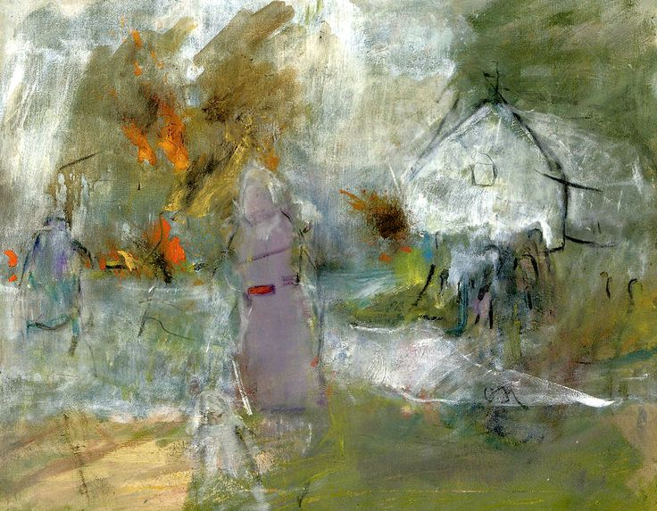bofransson: Oluf Host (DANISH, 1884-1966) Figures in a landscape