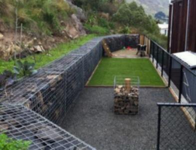gabion backyard retaining wall