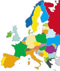 Europe History Interactive Map: See important events against the backdrop of an interactive map, complete with mouseover buttons for more information on each event. Toggle back and forth between major time periods.
