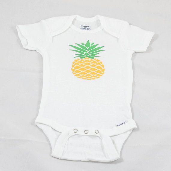 cb44b9e5891c Pineapple baby shirt Pineapple baby gift Hawaiian shirt Bodysuit Undershirt  Snap suit One piece shirt Snap tee shirt Girls shirt Baby gift