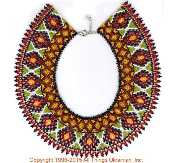 AllThingsUkrainian.com gherdany Bead Jewelry  # GIBN15131