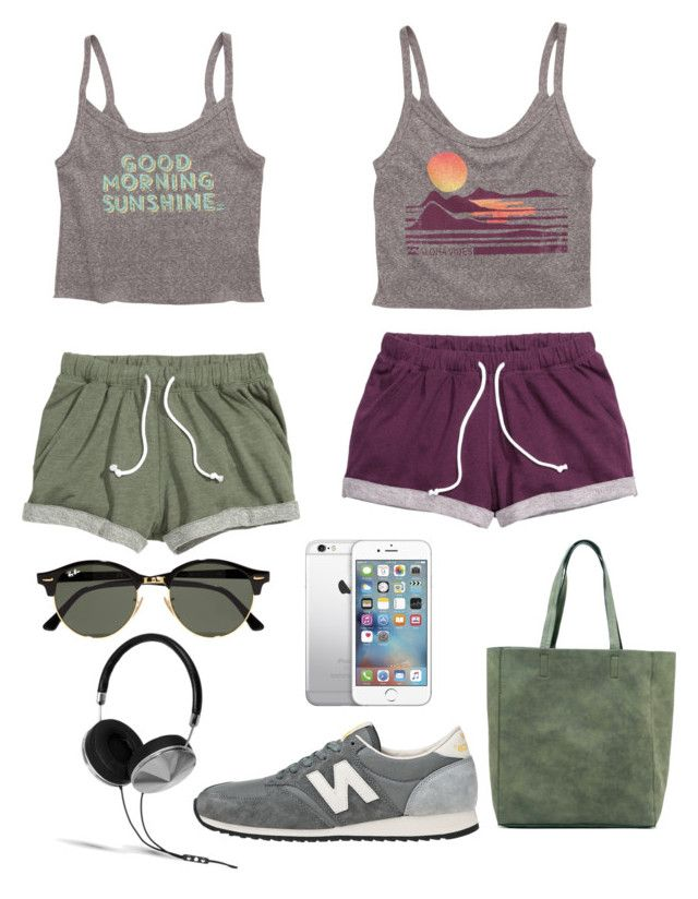 """Running"" by julimoli27 on Polyvore featuring moda, New Balance, Billabong, Ray-Ban y Frends"