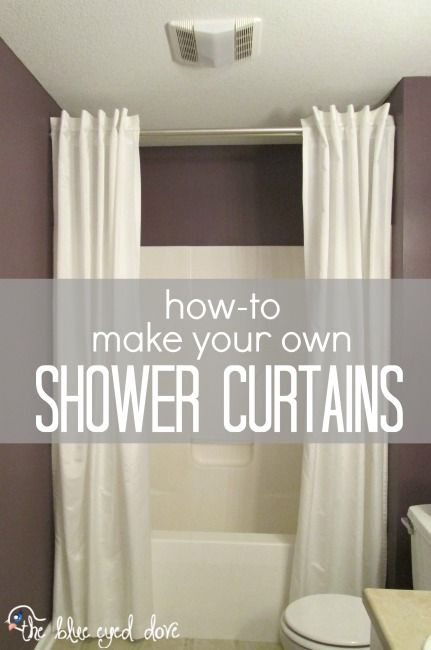 how to make your own shower curtains bathroom bathroom. Black Bedroom Furniture Sets. Home Design Ideas