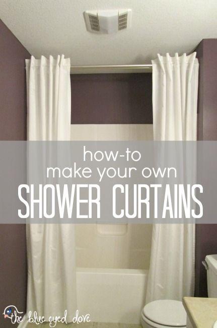 HowTo Make Your Own Shower Curtains  bathroom  Bathroom