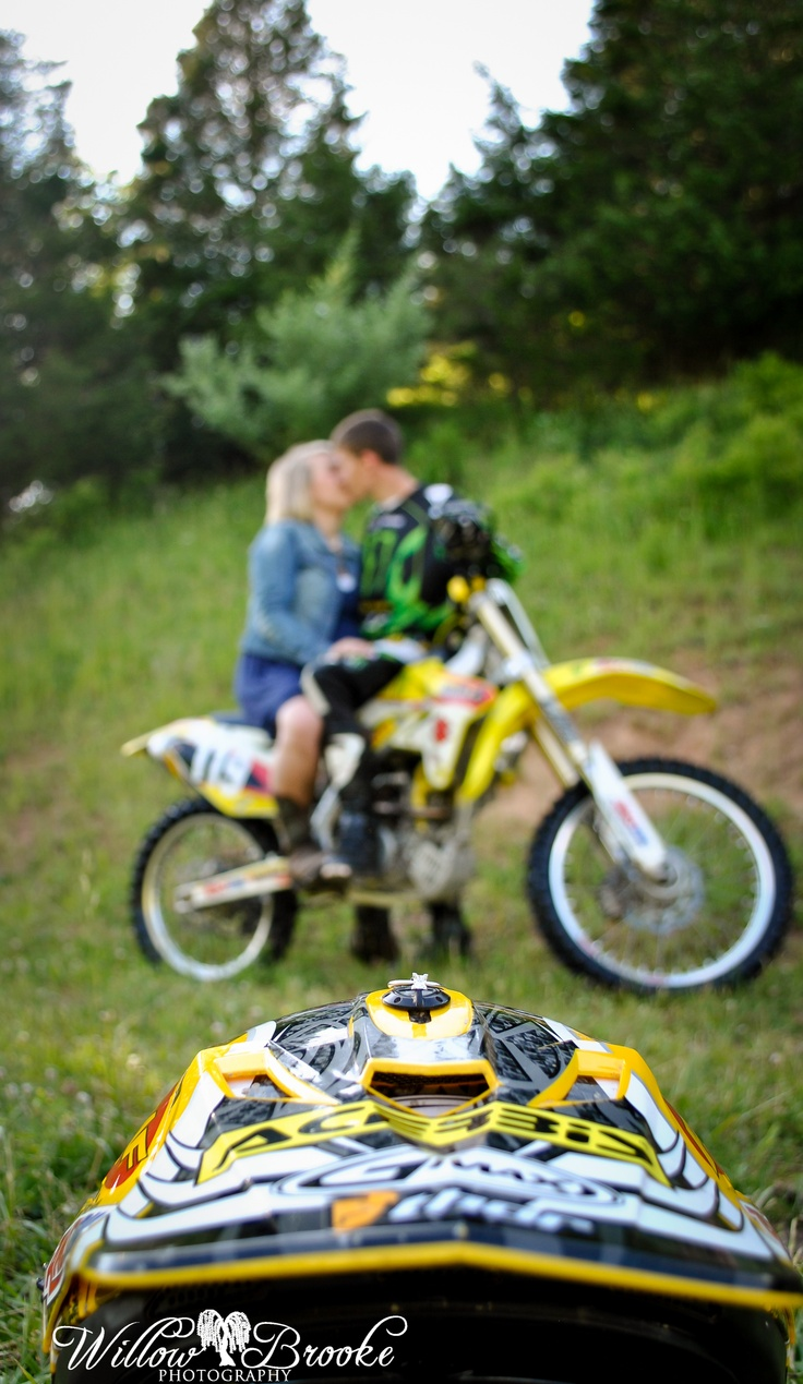 www.facebook.com/willowbrookephotography   Engagement session, Dirt bike, Country ring shots