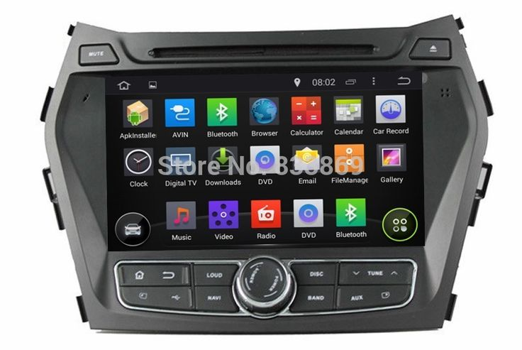 1024*600 HD 2 din 8 Android 5.1 Автомобилей Радио DVD для HYUNDAI IX45 Санта-Фе 2013 Quad Core CPU Автомобильная Аудиосистема 3 Г/WI-FI Bluetooth IPOD USB