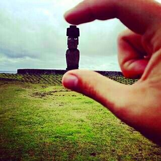 #Travelling makes you realise how small your place is in the #world and how much there is left to #explore.  Great pic of a #moai in #EasterIsland by @max_nelson24