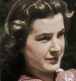 traudl-junge- Hitler's secretary. What a Beauty she was!`  Her auto was fascinating as well.
