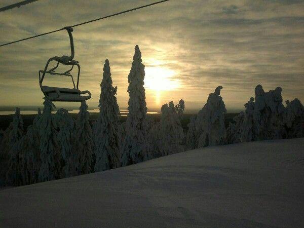 Skiing at Vuokatti