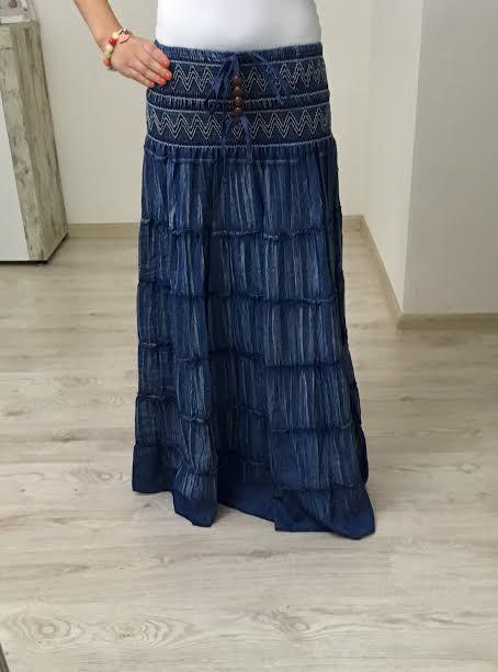 Maxi sukňa jeans