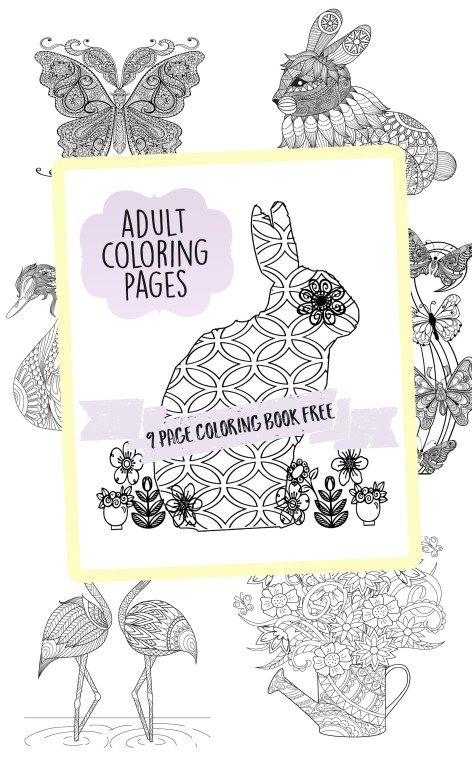 Adult Coloring Pages Book Printable