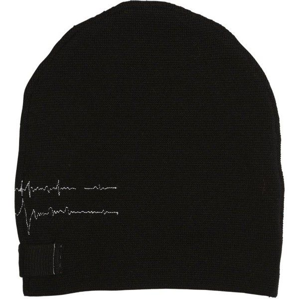 Isabel Benenato Men Heartbeat Wool Milano Jersey Beanie Hat ($175) ❤ liked on Polyvore featuring men's fashion, men's accessories, men's hats, black, mens wool hats, mens jerseys, mens wool beanie, mens beanie hats and mens beanie