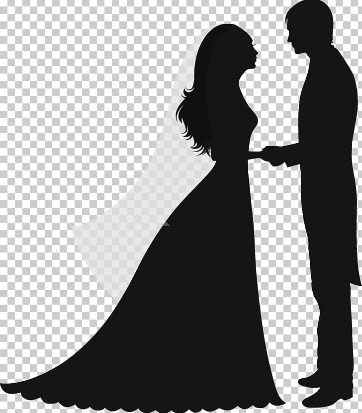 Wedding Invitation Silhouette Marriage Couple Png Black And White Bride Bridegroom Couple Wedding Invitations Silhouette Wedding Drawing Book Silhouette