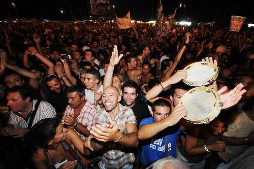 il pubblico del concertone 2010