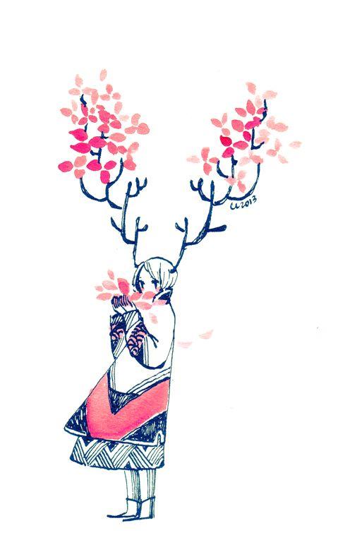 Girl • antlers