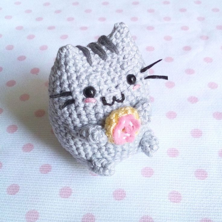 Pusheen Knitting Pattern : Toffoletto Donut Chubby Cat Amigurumi Pattern Cats ...