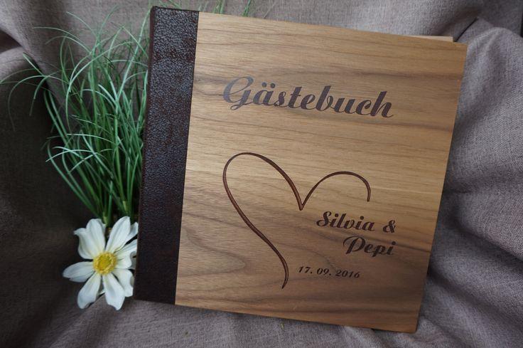 Gästebuch Hochzeit Fotografie Holz Heirat Ja Herz
