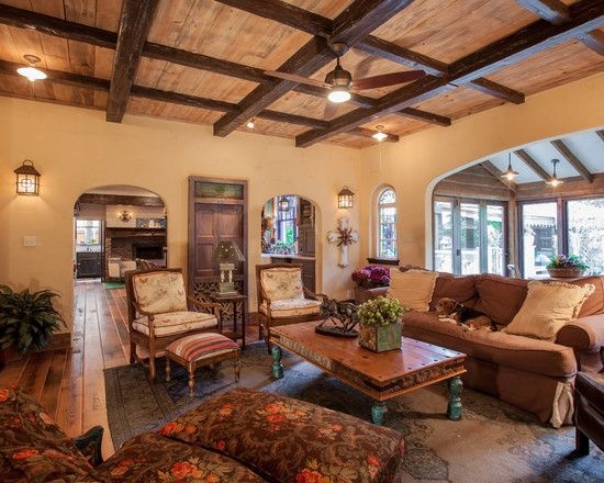 Fabulous Exposed Beam Ceiling And Arched Walls For Rustic