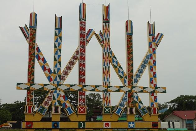 Manao Park where the Kachin festival is held