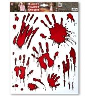 Dekorace oken krvavé ruce