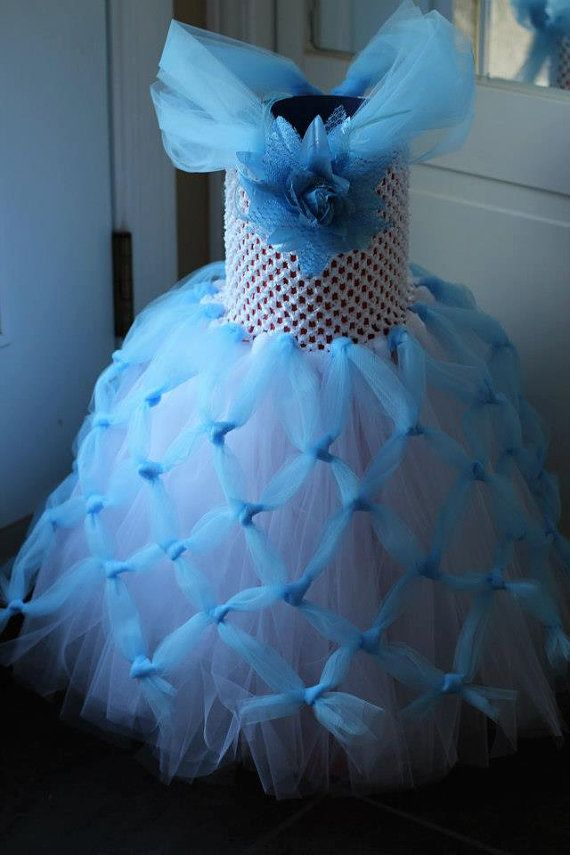Cinderella Princess Tutu Dress Gown, 12 months-2T, Dress Up, Party, Formal, Costume, Flower Girl, Wedding Photo Shoot via Etsy