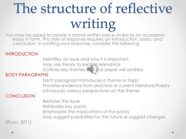 how to write reflective essay examples