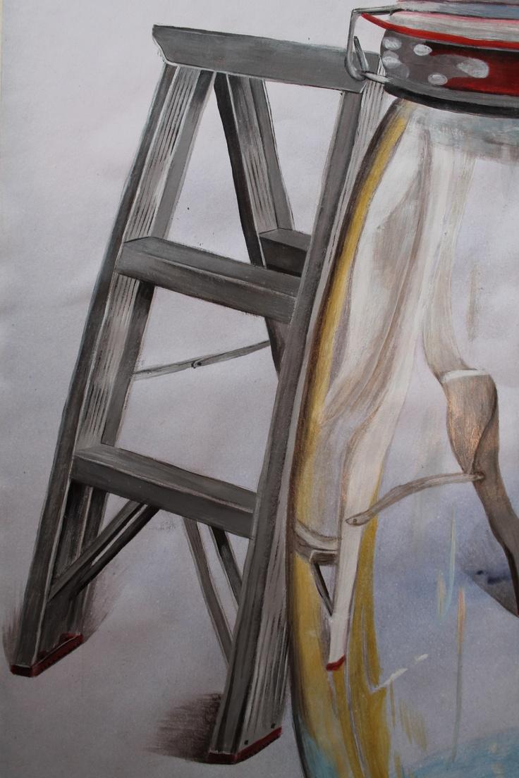 Logan Moffat, 15.  Ladder and a glass jar.  Materials- acrylic paint