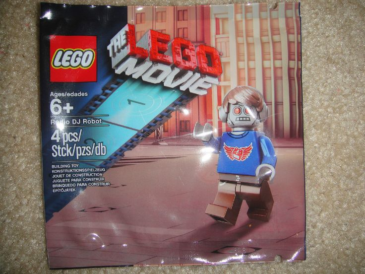 LEGO THE LEGO MOVIE Radio DJ Robot Promo Minifigure New in Sealed Bag