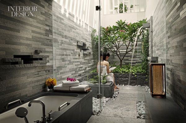bathroom garden WOHA for InterContinental Sanya Resort in Hainan, China.  http://www.decorreport.com/a353880-golden-key-awards-2011-winners