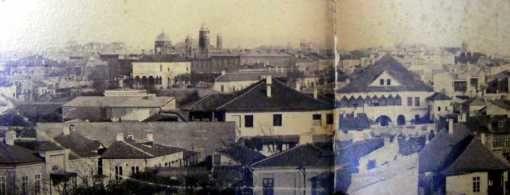 Bucuresti1865 Biserica Sfantul Ioan, aflata pe locul CECului