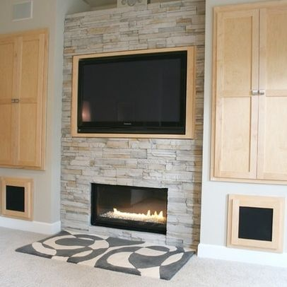 Whopper Tv Over Small Modern Fireplace Tv Over Fireplace