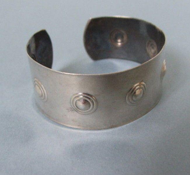 WMF: Alter Silber 835 Armreif streng geometrisch Bauhaus Art Deco 1930  z289