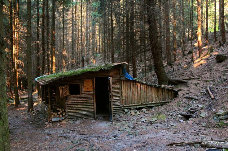 Rambler's cabin in the Brdy Forest, Czech Republic