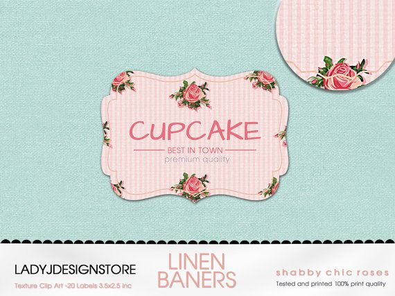 Linen Frames Clipart Pack With Shabby Chic By