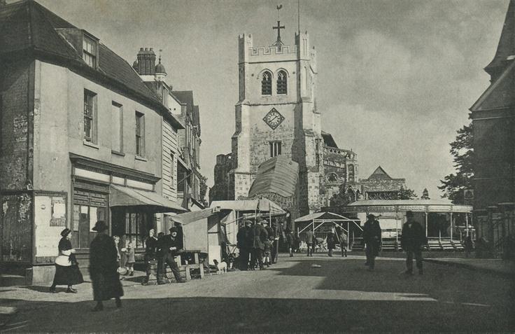 Essex, Waltham Abbey, a Market Place Fair c1930's