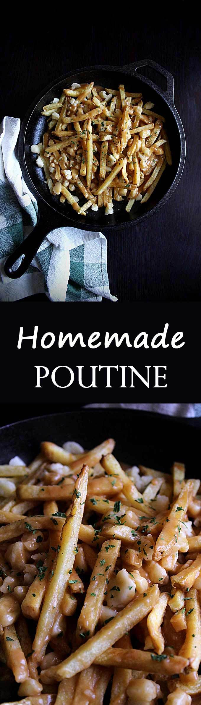 Homemade Poutine Gravy | Easy Poutine | Beef & Chicken Poutine Gravy | Fries and Cheese Curds | How to Make Poutine