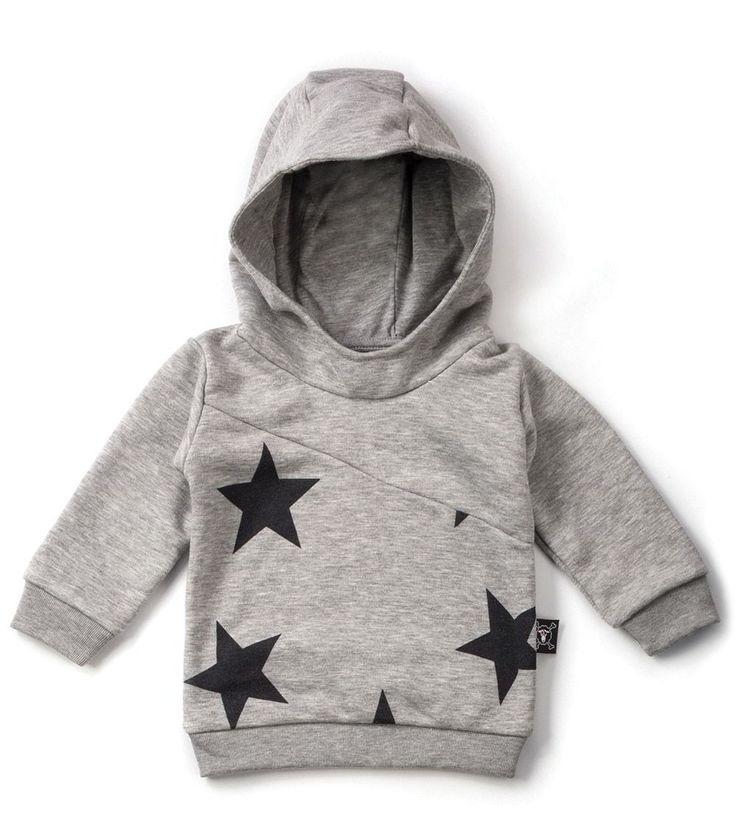 Our Brands :: Nununu :: Diagonal Hoodie Heather Grey -