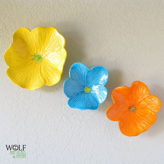 Ceramic Flower Wall Decor Target : Yellow ceramic flowers reversadermcream