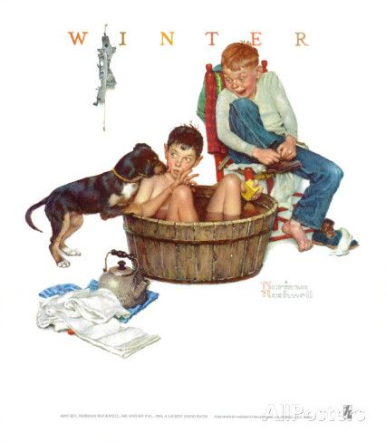 Lickin' Good Bath Posters by Norman Rockwell at AllPosters.com