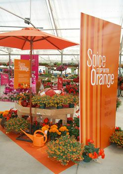 Garden Center Organized By Color Lawn Retailer Centre Ideas And Pos Pinterest Displays