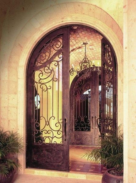 Front Door: Entryway Ideas, Dreams Houses, Wrought Irons Doors, Beautiful Gates, Front Doors Lov, Courtyards Gates, Dreams Homedecor, Irons Gates, Gorgeous Gates