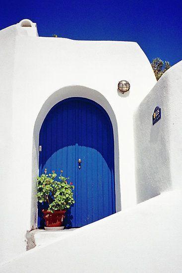 Santorini, #Greece # Puertas # Azules @ deedidit Más